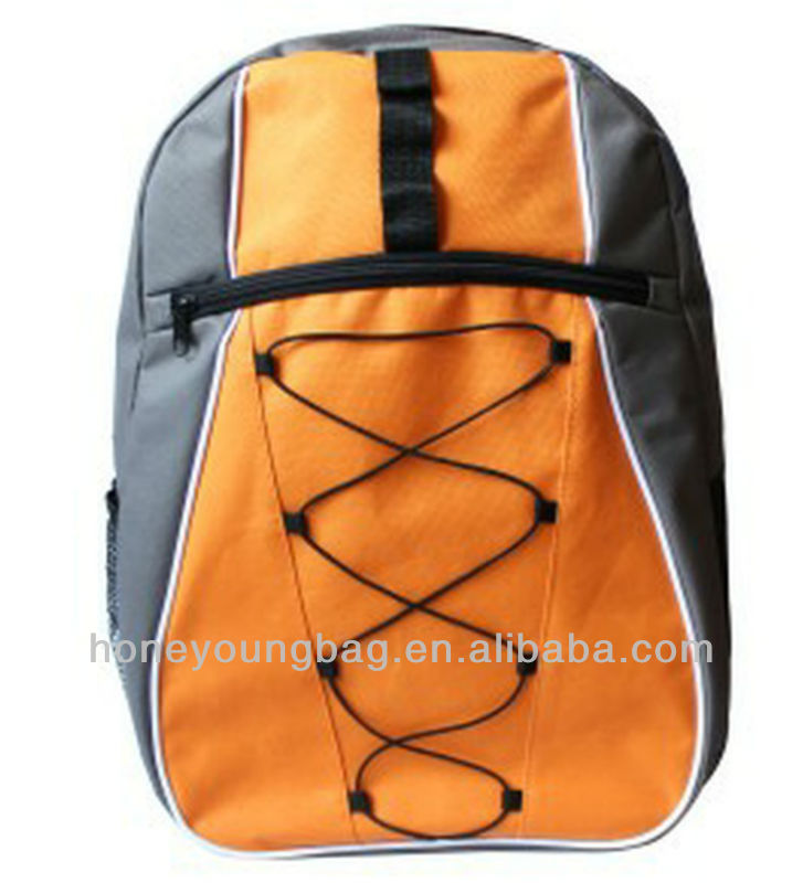 new fashion active orange school bag with rope design