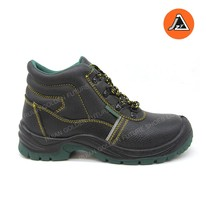 2017 fashion leather CE standard safety shoe coal mining safety boot ITEM# JZY1602SB