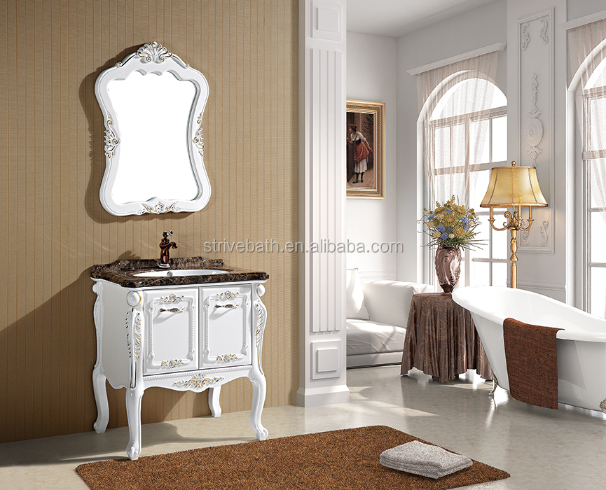 Modern design style PVC wall hanging bathroom vanity cabinet