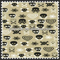 fashion design skull print taffeta fabric for scarves