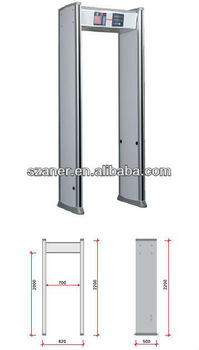 High precision and sensitivity Walk Through Metal Detector&Security Door K408