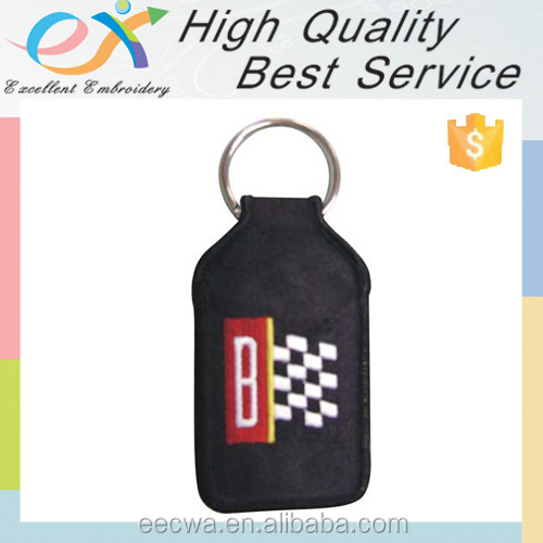 embroidery factory custom all types of keychains