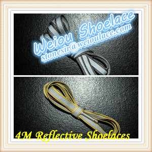 Weiou Highly reflective shoelaces for sale/colorful shoelaces for holiday bulk shoe laces