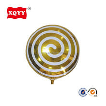 18 inch round shaped spiral lollipop helium foil balloons