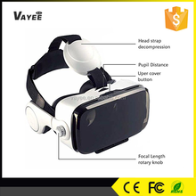 Innovative 2nd generation virtual reality 3d headset, 120 degree field of view for 3d games and films,3d tv without glasses