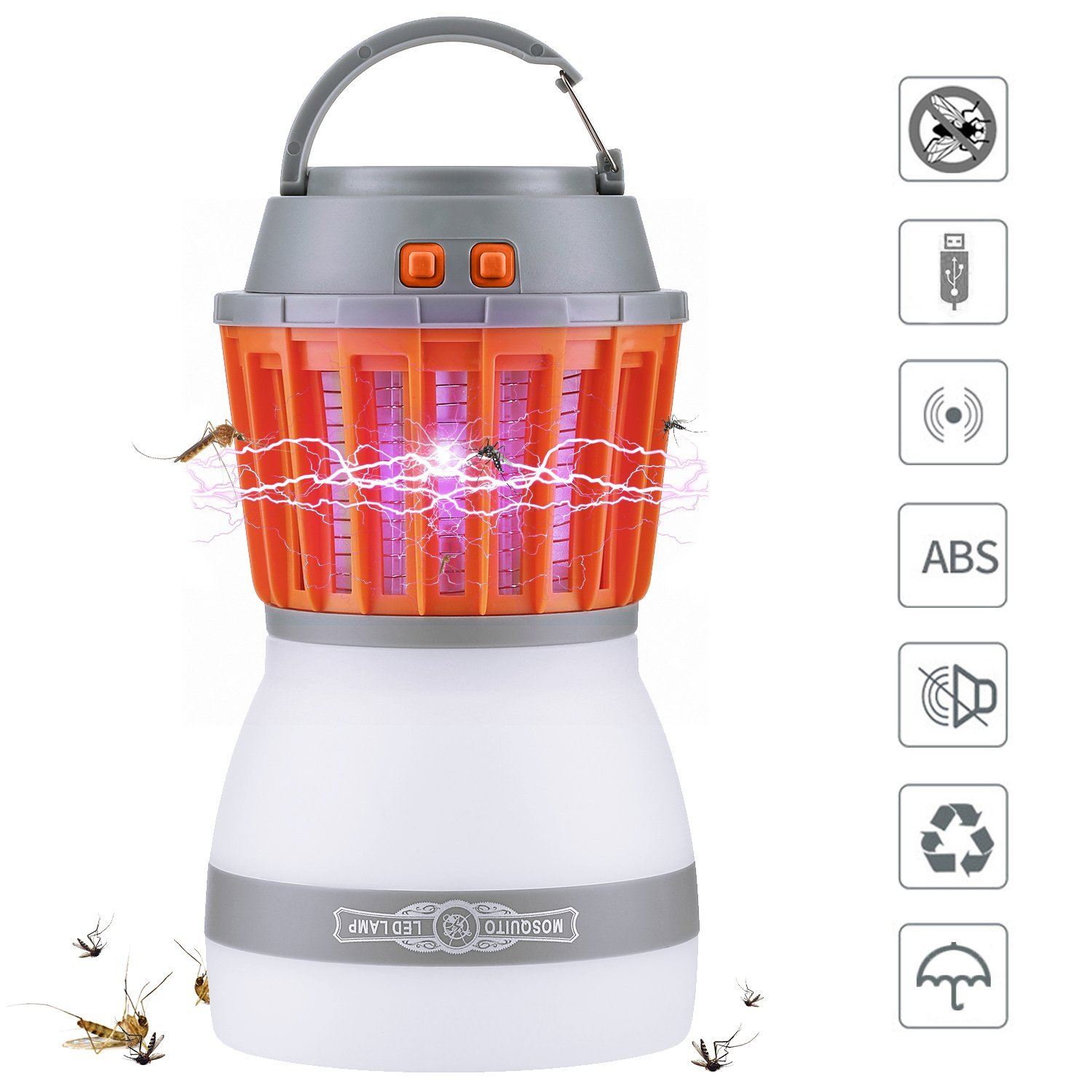 YARRAE 2018 Bug Zapper 2 In 1 Night LED Light Bulb Lamp & Mosquito Zapper Repellent