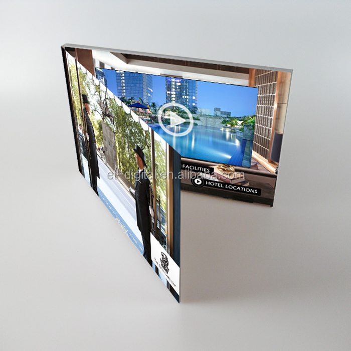 "A5 5"" Artificial Style and Greeting Card invitation LCD video greeting card"