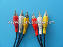 hot selling Gold Plated H to VGA 3 RCA Cable for HDTV, Satellite TV, RGB Component Video, LCD Projector