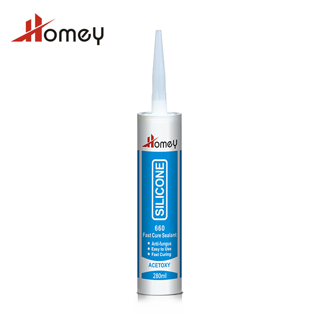 Homey 660 fast cure acetoxy acid curing acetic silicone sealant aquarium silicone sealant