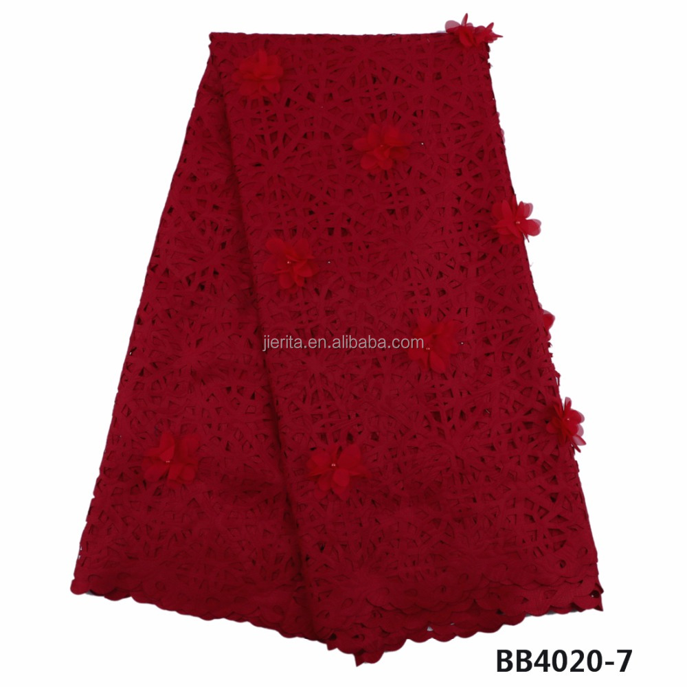 BB4020-7 wine lace/beaded lace/3d design embroidery cloth <strong>material</strong> cheap price