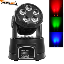 HOT Sales!! 5*18W RGBWA UV LED Mini Beam wash Moving Head Light For Theatre Stage Decoration
