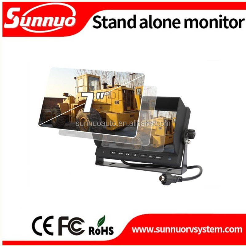 7 inch ahd car lcd monitor high resolution standing rear view car monitor with 2 video inputs