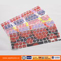 2015 colorful touch screen computer keyboarde cover with nice silicone material
