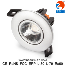 5 Years warranty 7w 2000k-3000k warmdim cob led downlight