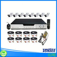 8 outdoor waterproof cameras network DVR 8ch kits home cctv security system