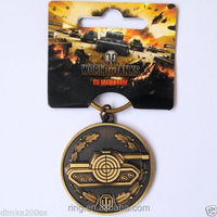 Hot Sale 2016 Game Jewelry World of Tanks WOT keychain Metal Alloy Key chain Cheap Wholesale in China