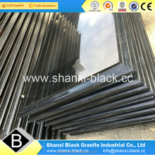 Best wholesale price china shanxi black granite tombstone slabs with golden spots dots for Iran gravestone