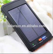 High quality portable 11200mAh solar power bank with led torch light portable power bank for laptop 12v, 16v, 19v