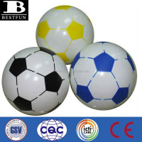 promotional custom made pvc inflatable soccer ball plastic soccer beach ball soft vinyl soccer ball