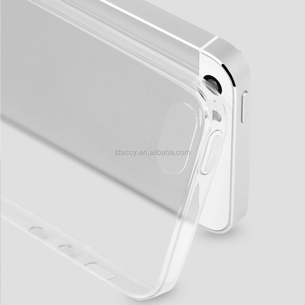 2017 clear transparent soft feel TPU phone case cover for iphone5