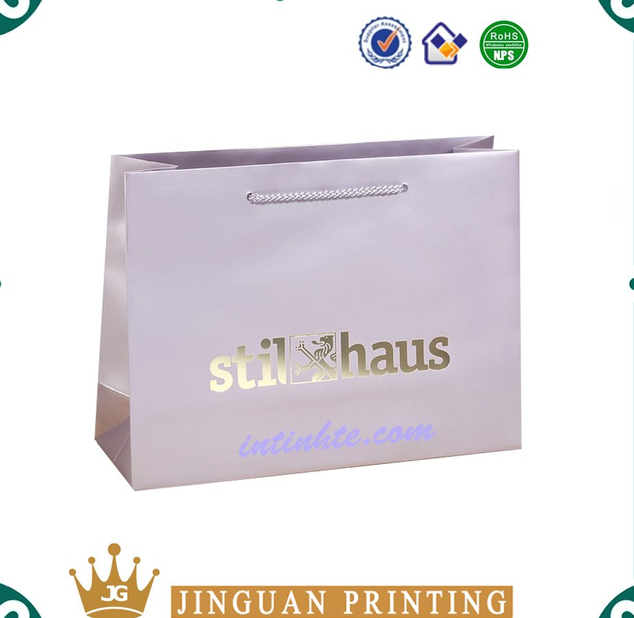 Professional custom printing logo shopping packaging promotional gift paper bag