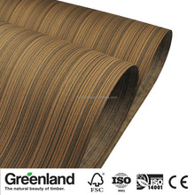 High Quality Reconstituted Zebrano Cheap Wood veneer for plywood MDF covering