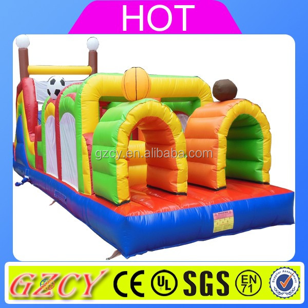 Factory outlet inflatable obstacle, adult inflatable obstacle course, inflatable obstacle for sports