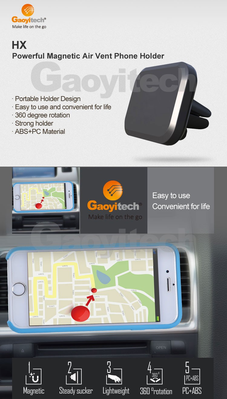China factory support universal car smartphone holder magnetic holder
