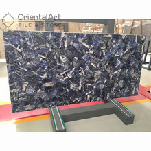 Chinese Manufacture black agate slabs tiles semi precious stone bezel set stones backlit semiprecious slab