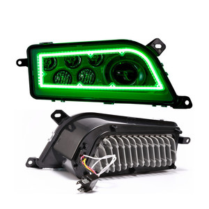 Unique RGB Halo Ring ATV UTV LED Headlight for Polaris RZR 1000