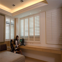 pure white Australia wooden outdoor basswood plantation shutter