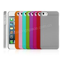 different colors rubber coated PC case for iphone 5
