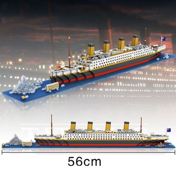6739389-Titanic Building Block Educational Toy 1680Pcs - World Great Architecture Series