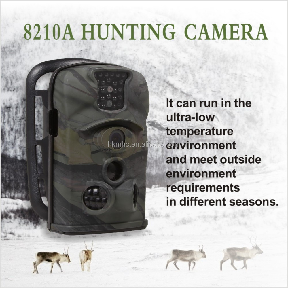 waterproofIP54 scouting game trail camera for hunting 8210A with Infra-Red PIR sensor