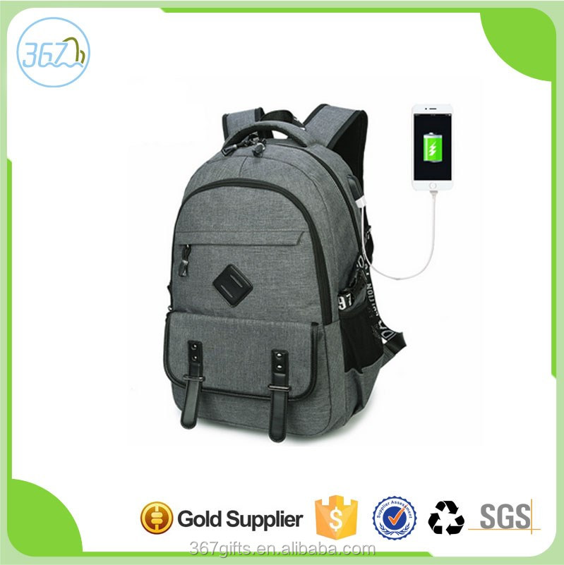 New design school backpack travel backpack with USB charge for men