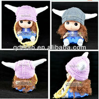 handmade cotton crochet animal winter earflap baby bonnet hat&caps acrylic beanie MINIONS