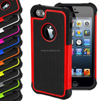 Shock Proof Hybrid Plastic Silicone Outdoor Defender Case Cover For Apple iPhone 5 5s