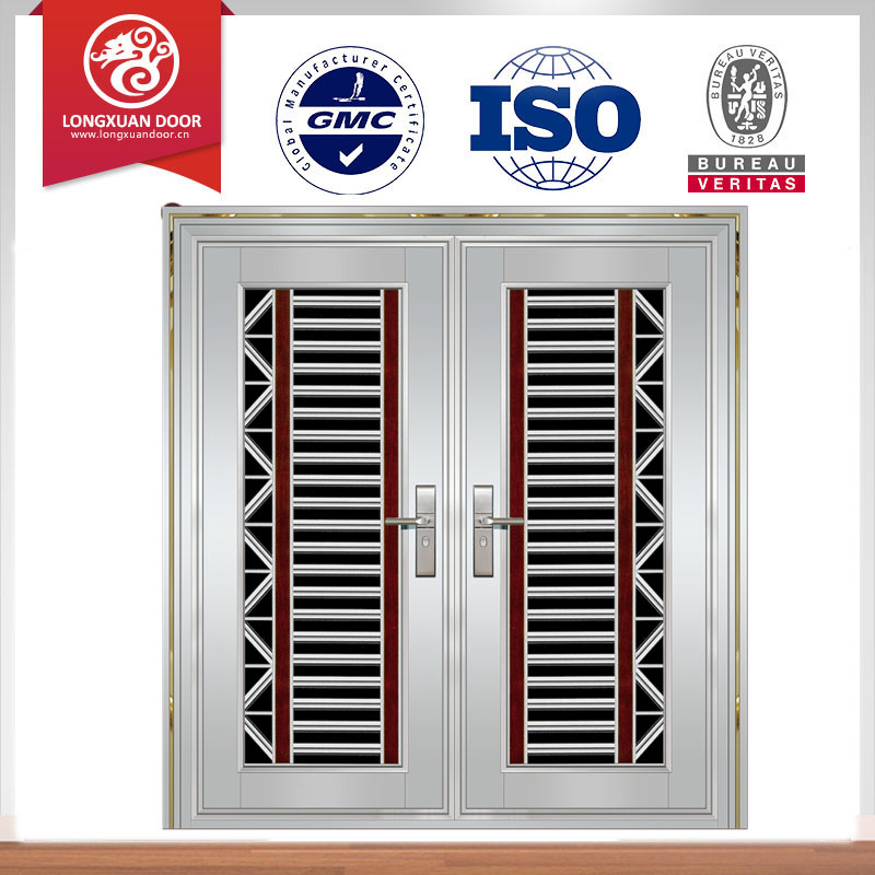 Stainless door stainless steel fire door for Main gate door design