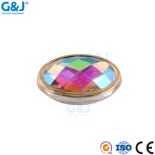 Guojie brand wholesale women's bags round shape colorful Acylic cup with resin stone