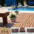 Wood plastic composite swimming pool/garden outdoor decking