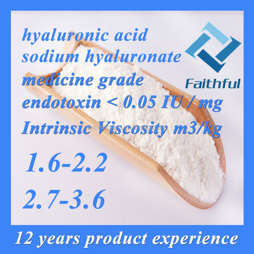 China Supplier Best hyaluronic acid price pharmaceutical/eyedrop/injection/Moisturing anti age hyaluronic acid
