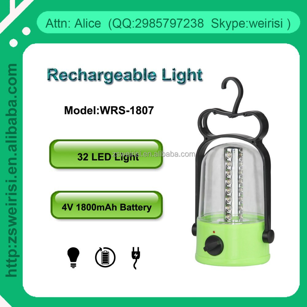 Rechargeable 32 LED Camping Lantern, Emergency Lantern, Portable Lantern (WRS-1807)