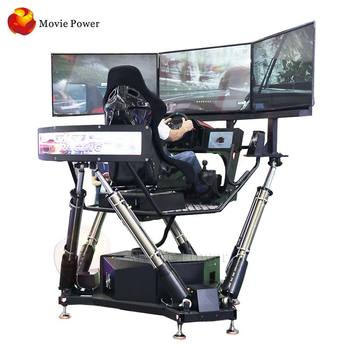 Other amusement park products 3d car driving 6dof racing simulator arcade game machine 3 screen racing car simulator for racing