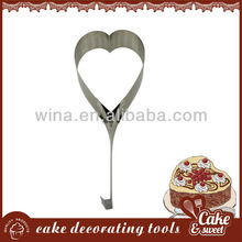 Aluminum Heart Stape Cakes Moulds Fondant cake decorating cutter