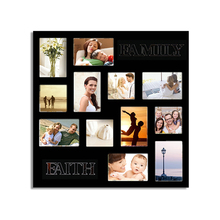 Wooden Photo Frame Wall Set Living Room Family Faith 12 <strong>Pictures</strong> Wall Hanging