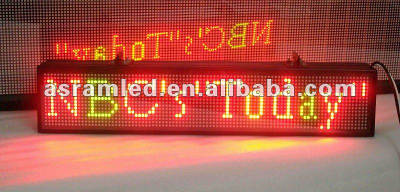 ali express new advertising products p4.75/p7.62 dot matrix led electronic sign rs232