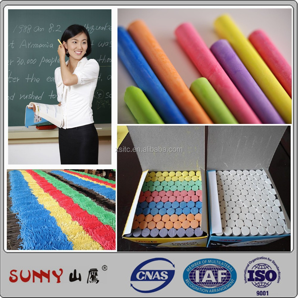 Dustless 100pcs school color chalk