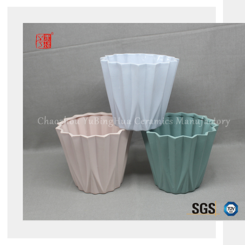 Unique design colorful ceramic roman style flower pot