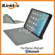 "9.4"" Ultra thin waterproof cover Leather Bluetooth tablet keyboard case for ipad5, ipad air 1/2"