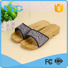 wholesale environmental anti-slip bath wooden men slipper